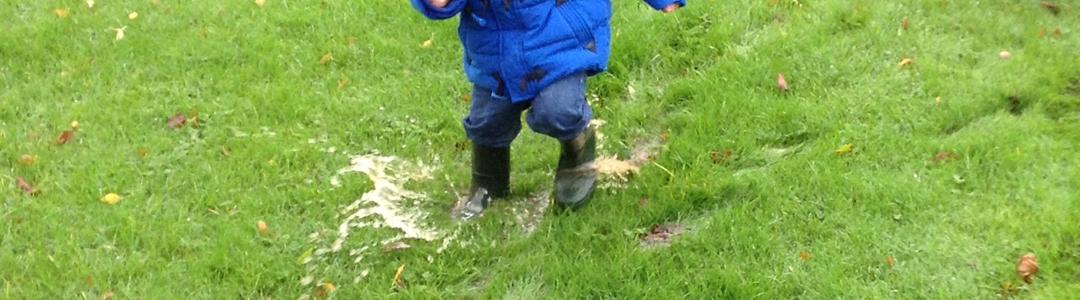 Splashing around in the mud!